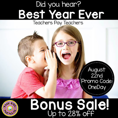 Find great back-to-school deals at The ESL Nexus during TpT's 1-day Bonus Sale & use promo code OneDay to save 28%!