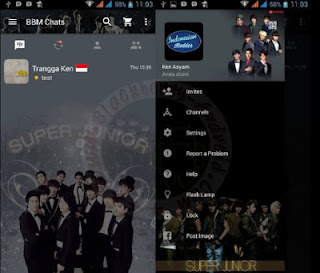 BBM MOD Super Junior APK