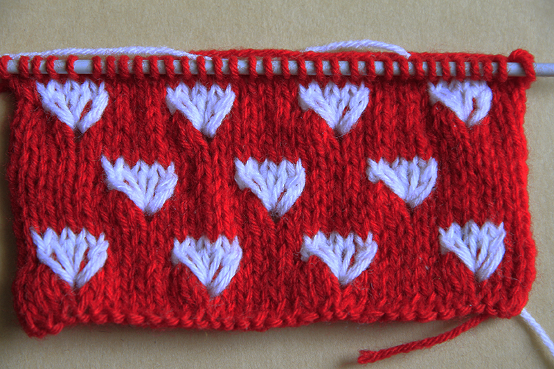 Knitting The V Stitch : Anything Creative: Multicolor Knit Pattern a Day - Day 11 - DANDELION STITCH ...