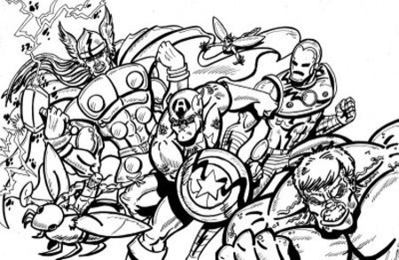 christmas avengers coloring pages | Printable Avengers Coloring Pages >> Disney Coloring Pages
