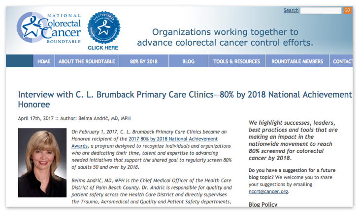 Reaching The Goal Of 80 Colon Cancer Screening By 2018 Practical Lessons From Community Clinics Public Health Sciences Division Washington University In St Louis