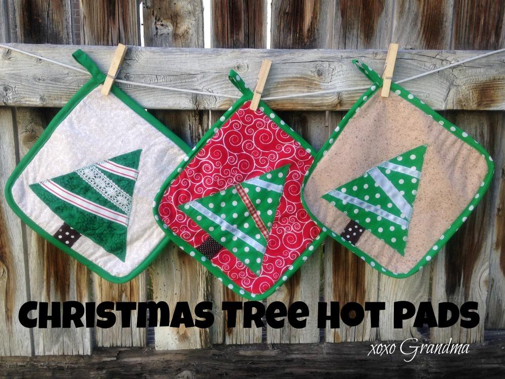 xoxo Grandma: Handmade Christmas - Christmas Tree Hot Pads