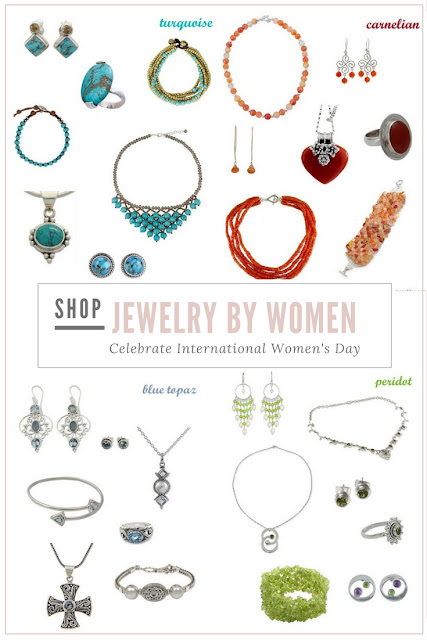 Celebrating Women's Day with some beautiful jewelry, made by women!