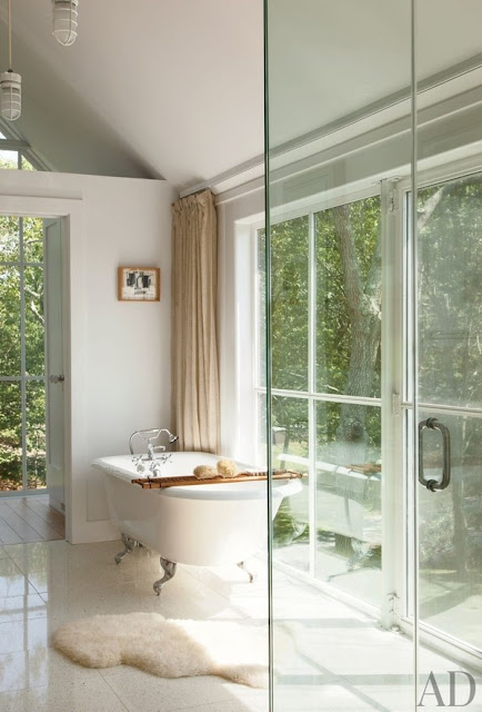 Luxurious master bath by Michael Haverland - found on Hello Lovely Studio
