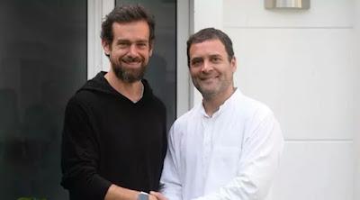 rahul gandhi meets jack dorsey,rahul