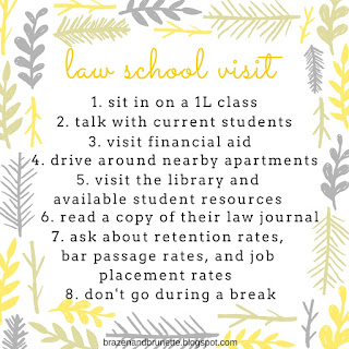 Choosing a Law School | brazenandbrunette.com