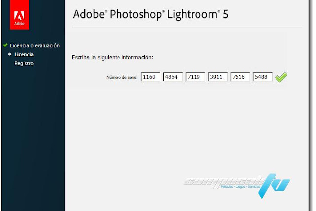 serial number lightroom 5.7.1