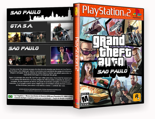 DVD PS2 – Gta Sao Paulo ps2 – ISO