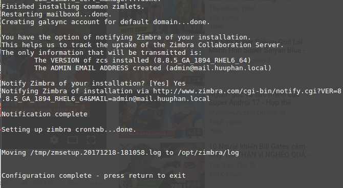 How to install zimbra 8 8 on centos 6 step by step ~ Zimbra Mail