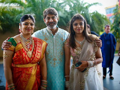 Jagapathi Babu with his daughters
