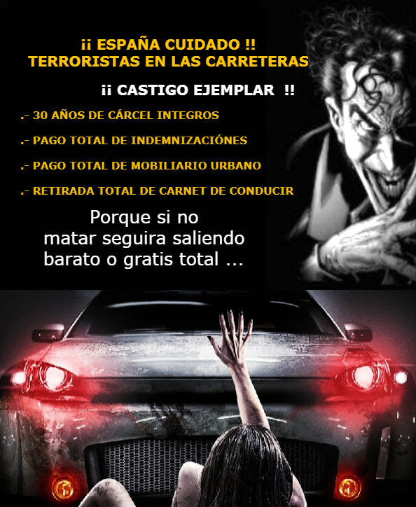 ASESINOS/AS EN LAS CARRETERAS