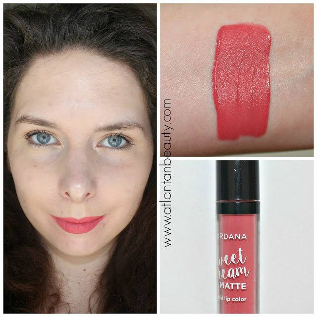 Jordana Sweet Cream Matte Lip Color in Strawberry Cheesecake
