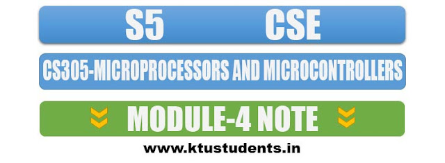 note for cs305 microprocessors and microcontrollers module 4