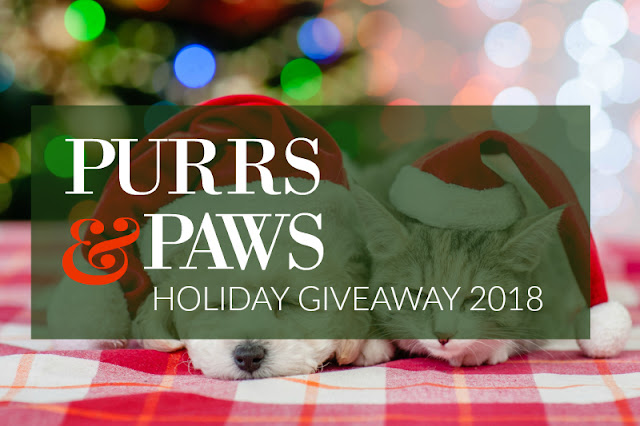 Giveaway: Purrs & Paws Holiday Giveaway 2018 - $500 in Prizes!