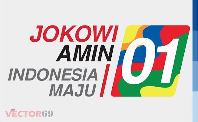 Logo Kampanye Jokowi-Amin Capres 01 Indonesia Maju - Download Vector File EPS (Encapsulated PostScript)