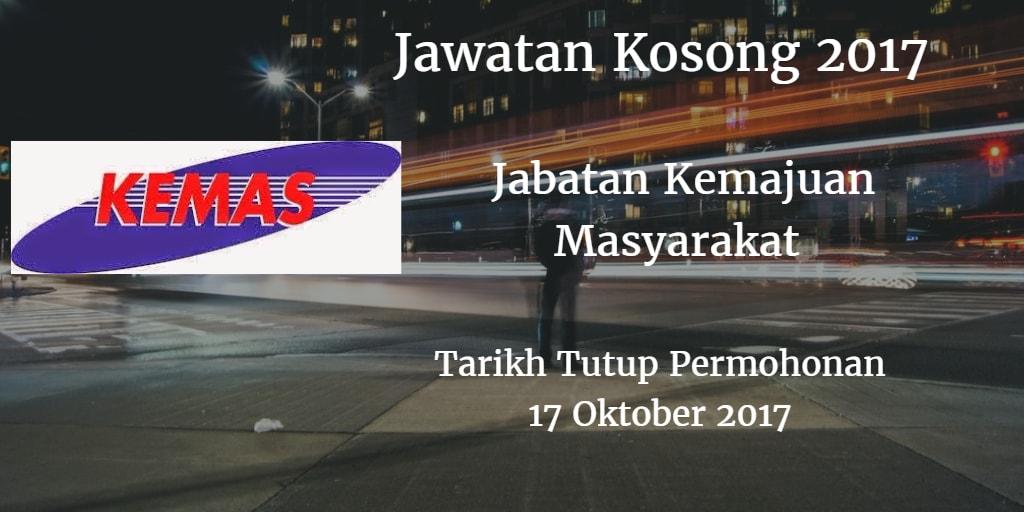 Jawatan Kosong KEMAS 17 Oktober 2017