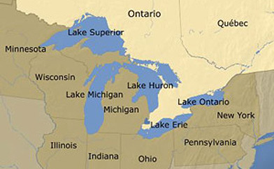 Map Of Canada 5 Great Lakes.Stitching With Attitude Places To Escape Wander And Think