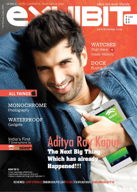 Aditya Roy Kapoor on the cover of Exhibit magazine