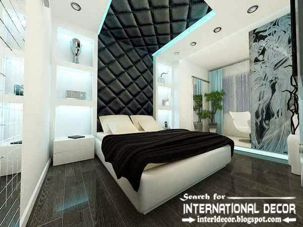 Modern pop false ceiling designs for bedroom 2017, leather ceiling drywall