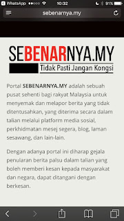 SEBENARNYA.MY portal launched for checking validity of news