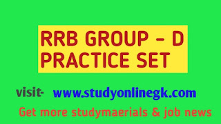 RRB Group D Model Question Paper 2018 in English – Practice Set