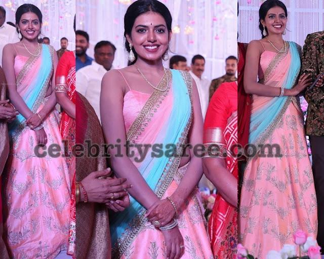 Rajashekar Daughter Shivani Designer Half Sari