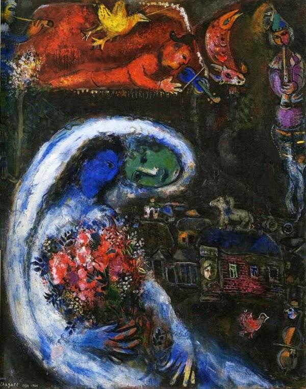 Noiva com Face Azul - O Surrealismo glorioso de Marc Chagall