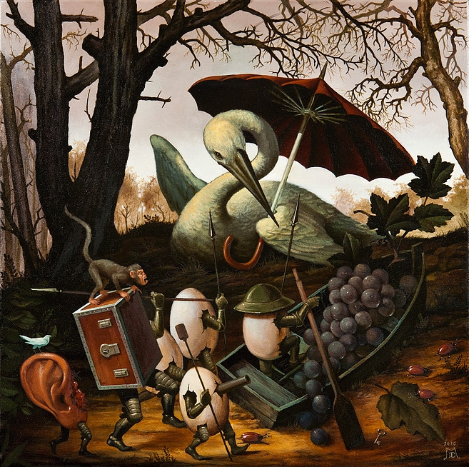 07-Mustering-the-Troops-Mike-Davis-Surreal-Paintings-that-hide-a-lot-of-Symbolism-www-designstack-co