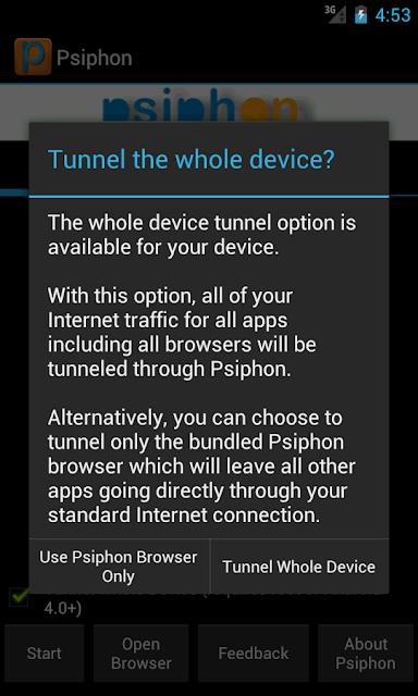 Internet Gratis Android Mengunakan Psiphon