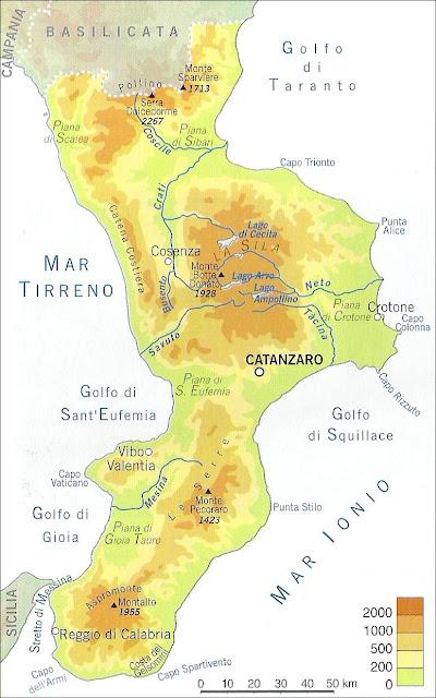 Cartina Fisica Della Calabria.Chi Viaggia Impara Immagini Dal Mondo Italia Calabria