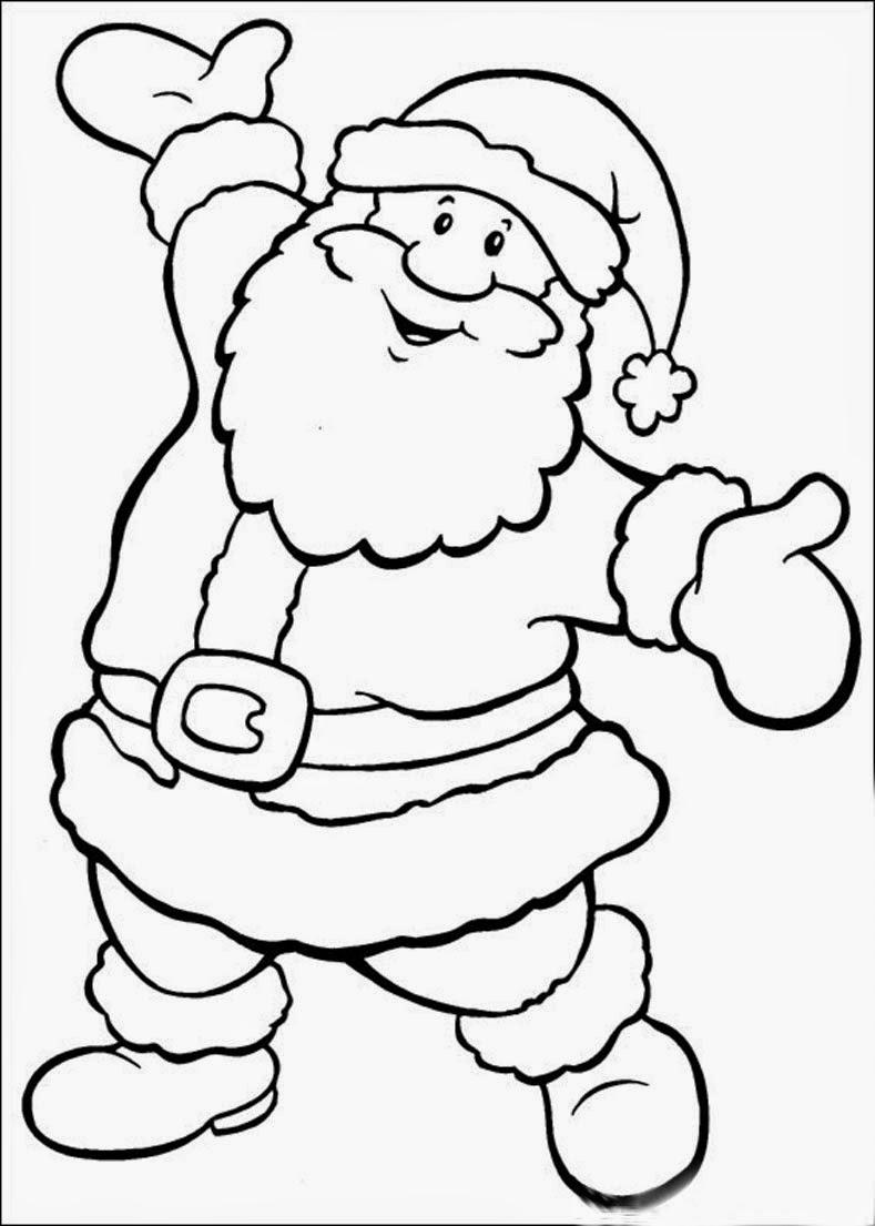 Hermosa Cara De Santa Claus Para Colorear Modelo - Dibujos Para ...