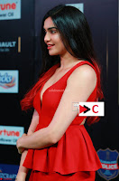 Adah Sharma in Red Deep Neck Spicy Gown ~  Exclusive 42.jpg