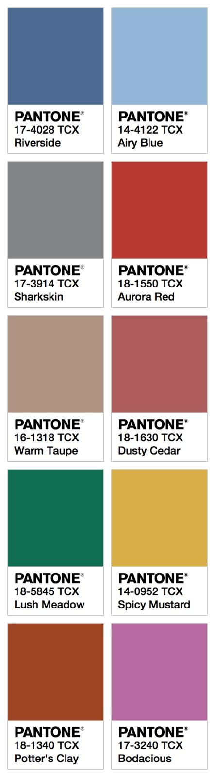 Pantone ecco i colori per lautunno 2016