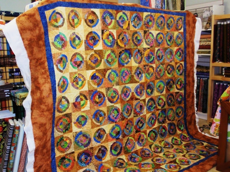 Aurora Quilts Batiks Circles Pieced By Ginny R