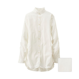 Ines Stand Collar Long Sleeve Shirt