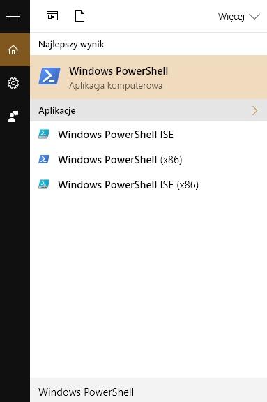 Windows PowerShell - uruchamianie