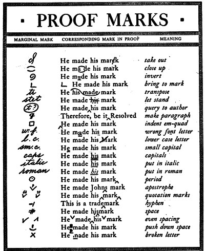 PROOF MARKS