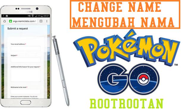 Cara Mengubah Nama di Pokemon Go Android