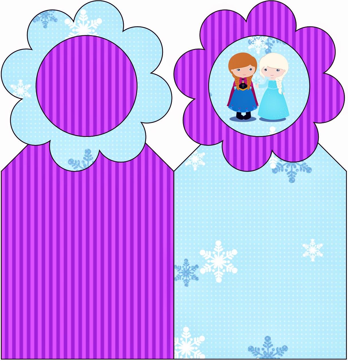 Para Marcapaginas para Imprimir Gratis de Frozen Niñas en Navidad.