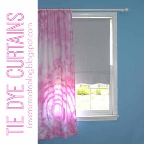 Tie Dye Curtains ILoveToCreate
