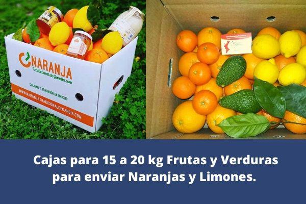 cajas para frutas y verduras para 15 a 20 kg de naranjas y limones