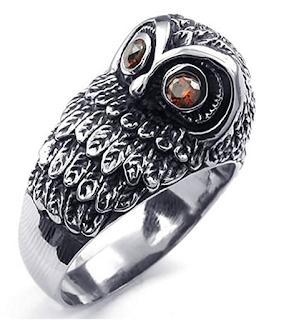 KONOV owl ring
