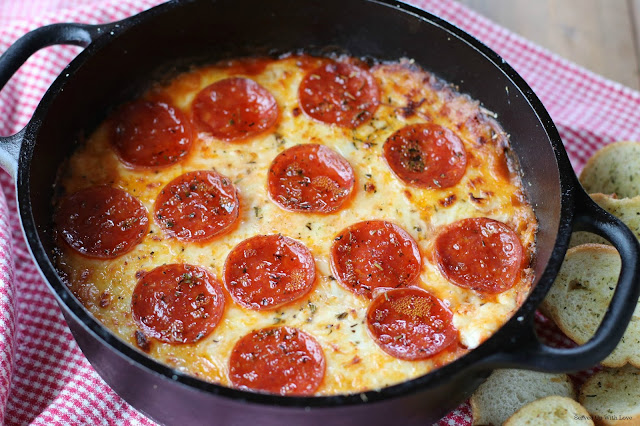 Warm Pizza Dip recipe from Served Up With Love
