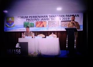 Kadis TPHP Provinsi Buka Forum Perbenihan Tanaman Pangan Provinsi Jambi Tahun 2019