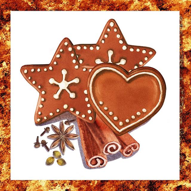 Ginger Bread Anise Star Coriander Clover painting