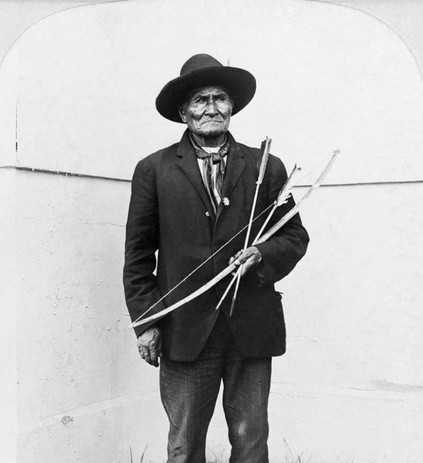 Not far from Filipino exhibition at the 1904 St. Louis World's Fair, the Apache hero Geronimo (pictured) would pose for tourists and signs autographs. Geronimo and several other Native American chiefs were also 'on display' at the event.
