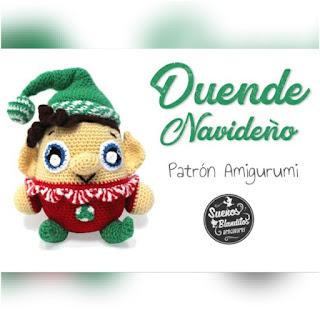 patrón amigurumi Duende navideño sueños blanditos