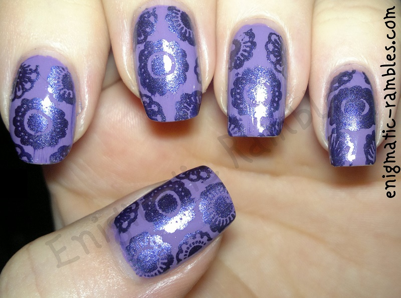 purple-floral-stamped-stamping-nails-nail-art-cheeky-stamping-plates-ch50-jacava-blueberry-muffin-stargazer-chrome-235