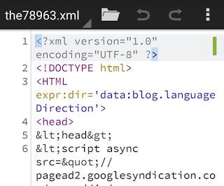 Cara Mudah Mengedit Template Blogger Di Hp Android Menggunakan Qouda Code Editor