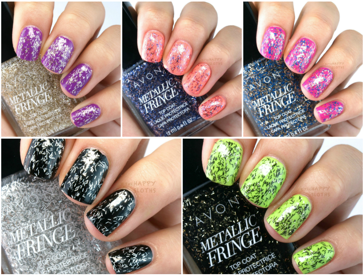 Avon Metallic Fringe Top Coats: Review and Swatches